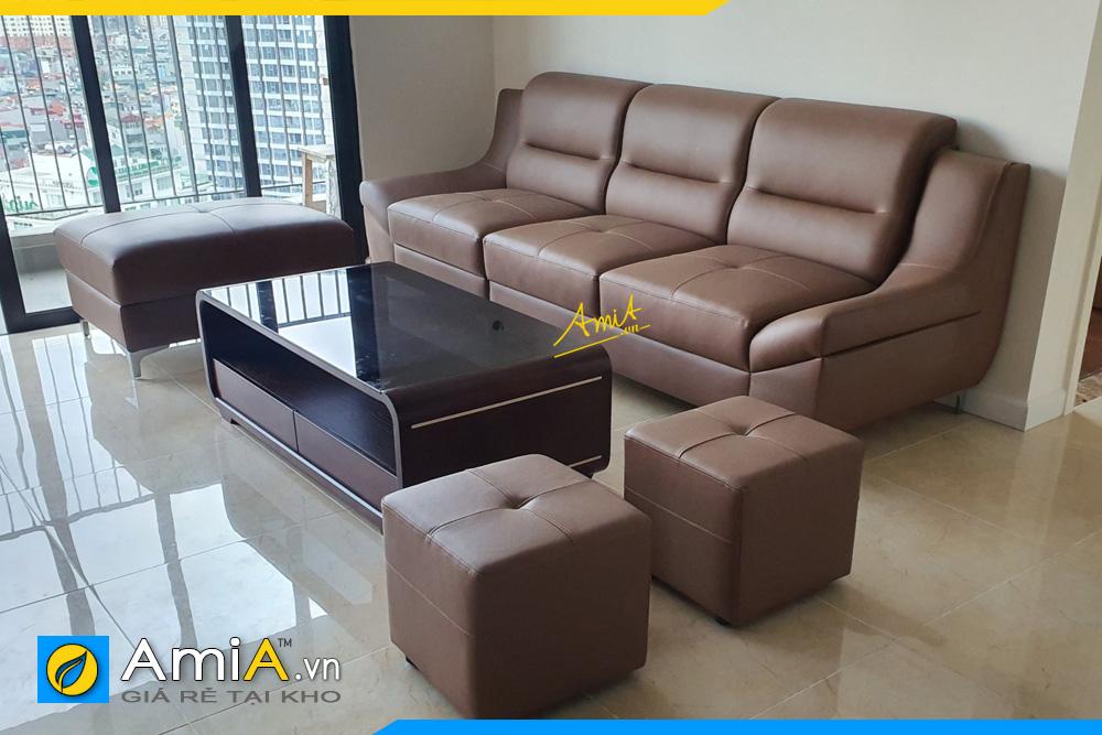 Mẫu ghế sofa văng da đẹp AmiA 211B nhỏ gọn tiện lợi !!!